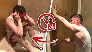Youtuber LOCKED in toilet for 24 HOURS *Loses His Mind* (Prank)