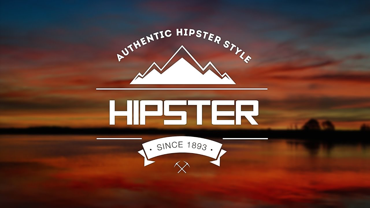 How To Design An Authentic Hipster Logo In Photoshop - YouTube