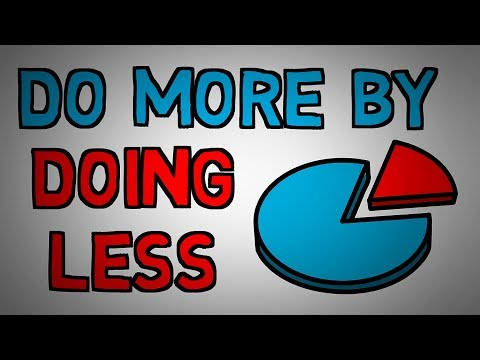 The Pareto Principle - 80/20 Rule - Do More by Doing Less (animated)
