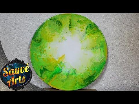 Fluid Acrylic Painting - The Circle Swipe EXPERIMENT