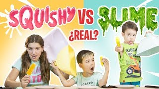 SQUISHY vs SLIME vs REAL food sin TELEPATIA // Familukis