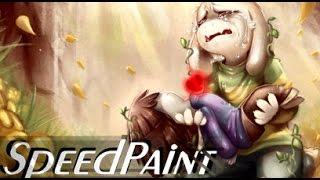 Asriel SPEEDPAINT - (Undertale) - I Couldn't Save Them