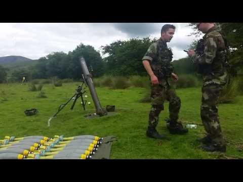 120mm Mortar shoot July 2016 Glen of Imaal Wicklow.Ireland.