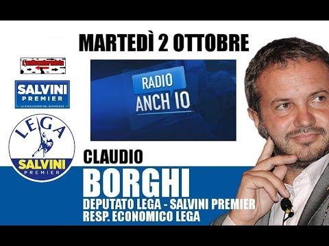 """🔴 Intervista all'on. Claudio Borghi su """"Radio 1"""" (02/10/2018)"""