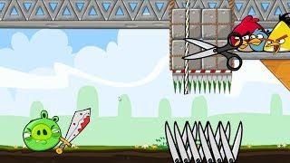 Crush Bad Piggies - 3 ANGRY BIRDS CUT THE ROPE TO CRUSH PIGGIES ALL LEVELS!