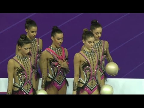 Italy Rhythmic gymnasts World Cup Pesaro 2017