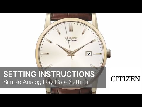 how to set day and date on citizen watch