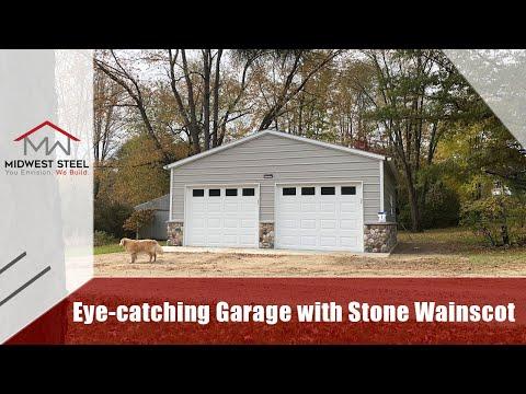 24 x 25 x 9 Metal Garage installed in Chelsea, Michigan
