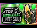 CSGO SKINS - TOP 5 GAMMA KNIVES UNDER $100! TOP 5 Cheap Gamma Knives in CSGO! Best CHEAP Skins CS GO