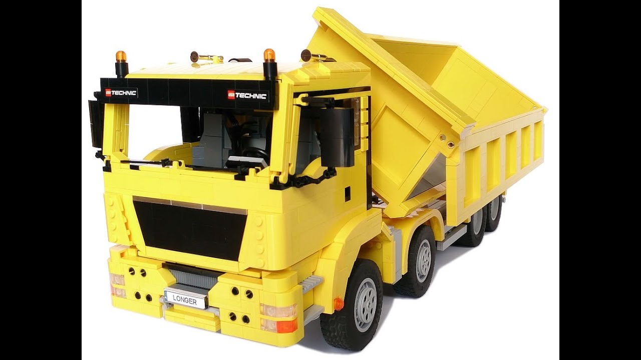 lego technic man tgs 8x4 tipper truck youtube. Black Bedroom Furniture Sets. Home Design Ideas