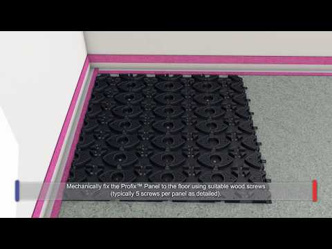Installing the Profix Low Profile Screed System on Timber Floors - Profix 1