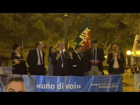 Comizio Michele Santoro con intervento On. Raffaele Fitto - On. Gianfranco Chiarelli