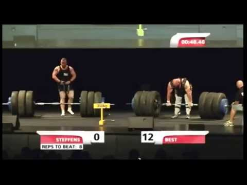 Nick Best World Record Deadlift for Reps - 770 pounds 13 reps Giants Live 2013 LiftBigEatBig.com