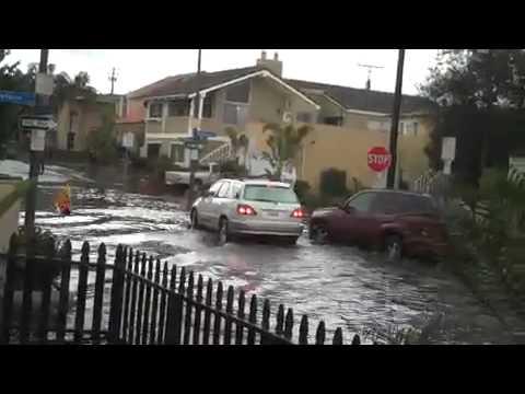 Orange County Huntington Beach Long Beach California Flooding Floods