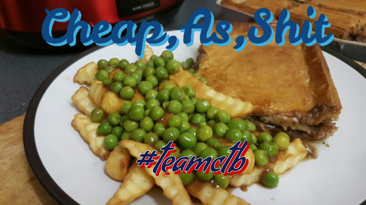 Steak Pie,Chips,Peas and Gravy - YouTube