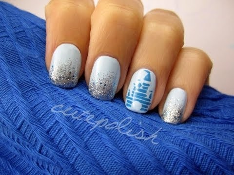 Disney Magic Kingdom Nail Art Youtube