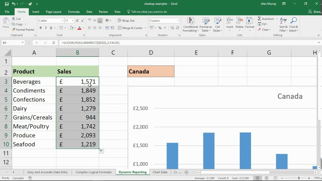 4 Excel Vlookup Examples Why Use The Vlookup Function Youtube