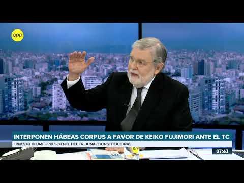 "Blume sobre caso Keiko: ""El Tribunal Constitucional no va a dejarse presionar de ninguna manera"""
