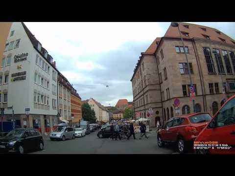 D: Nürnberg. Fahrt durch die nördliche Altstadt St. Sebald mit Burg. Mai 2016