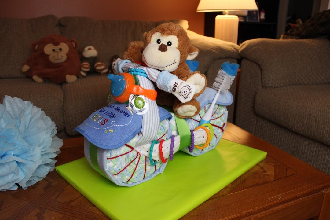 how to make a motorcycle diaper cake for boys, Baby shower invitation
