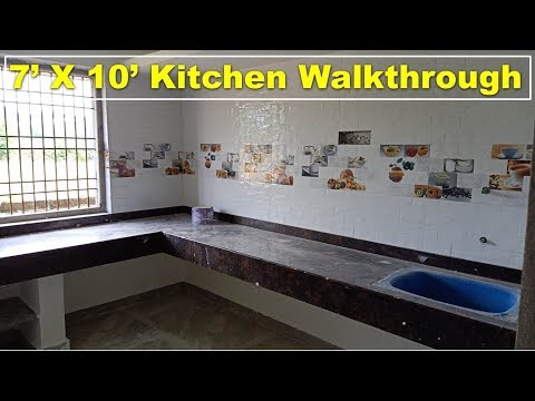 7 X 10 Feet Kitchen Walkthrough You
