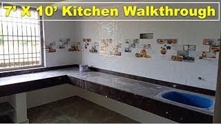 7 X 10 feet Kitchen Walkthrough