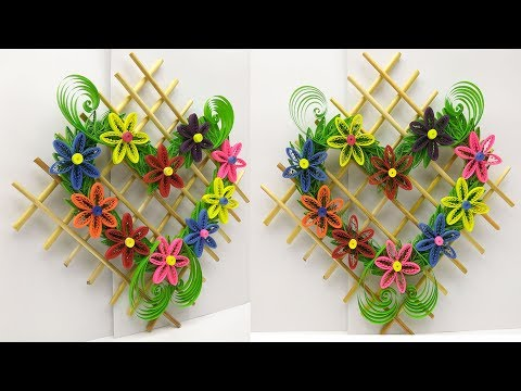 DIY paper quilling   quilled wall hanging   Hanging for room decor ideas   Quilling designs
