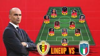 Belgium vs Italy l Belgium Potential Lineup Quarter Finals Euro 2020