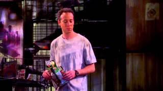 Big bang thoery season 7 finale( Stuart's comic book store burns down)