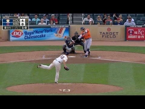 Correa mashes a deep home run to center