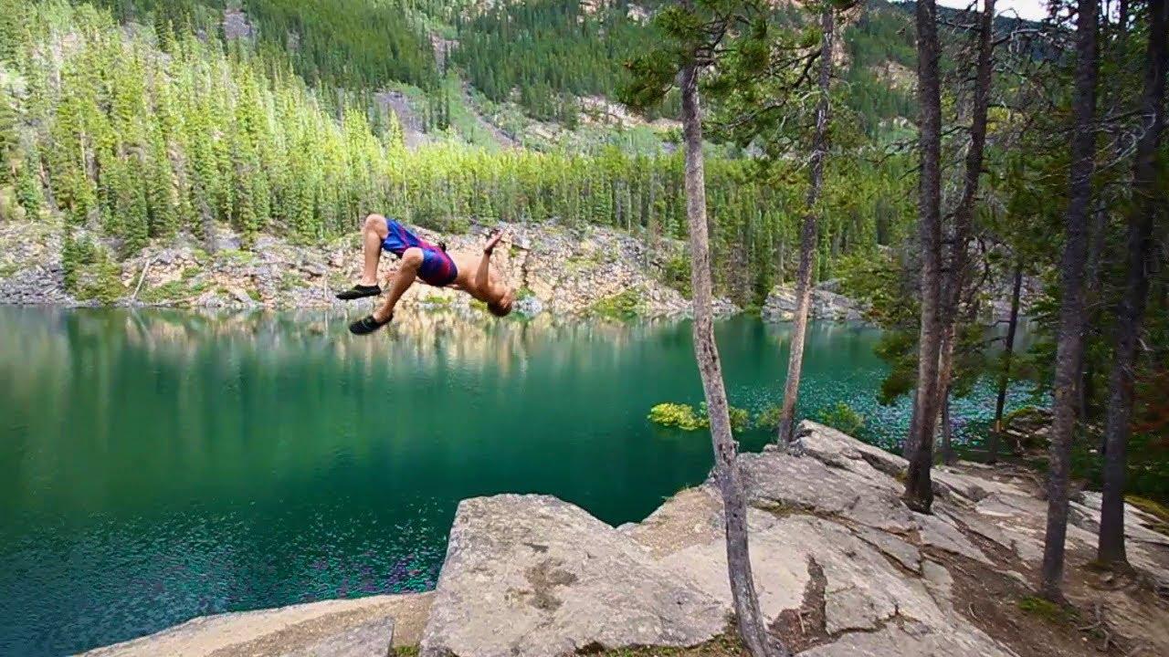Horseshoe Lake Cliff Jumping 3 - YouTube