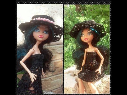 Шляпка для куклы своими руками. A hat for doll with his own hands. смотреть в хорошем качестве