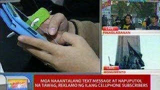 UB: Mga naaantalang text message at napuputol na tawag, reklamo ng ilang cellphone subscribers