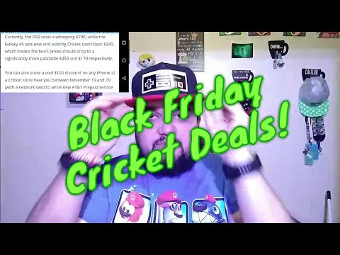 CRICKET WIRELESS BLACK FRIDAY DEALS! ONLINE ONLY? WTH ARE YOU KIDDING? Samsung A6 Samsung S9