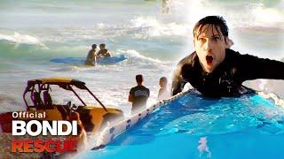 Lifeguard Races To A Drowning Man