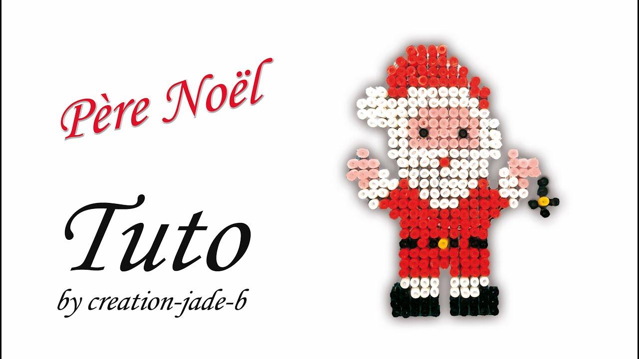 Tuto Perles à Repasser Hama Père Noël