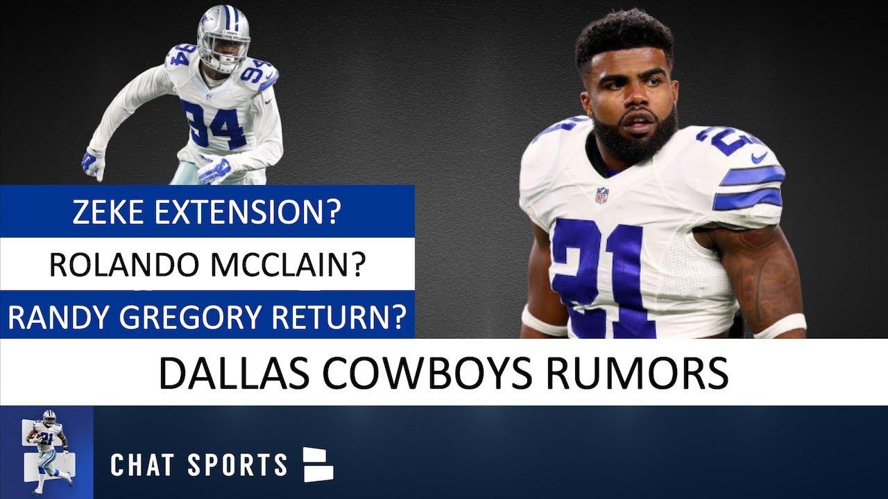 Ezekiel Elliott Extension Latest, Randy Gregory Future, Rolando McClain  Reinstated | Cowboys Rumors