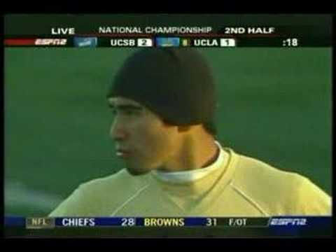 NCAA Soccer Final 2006 - UCSB Vs UCLA - Highlight 6