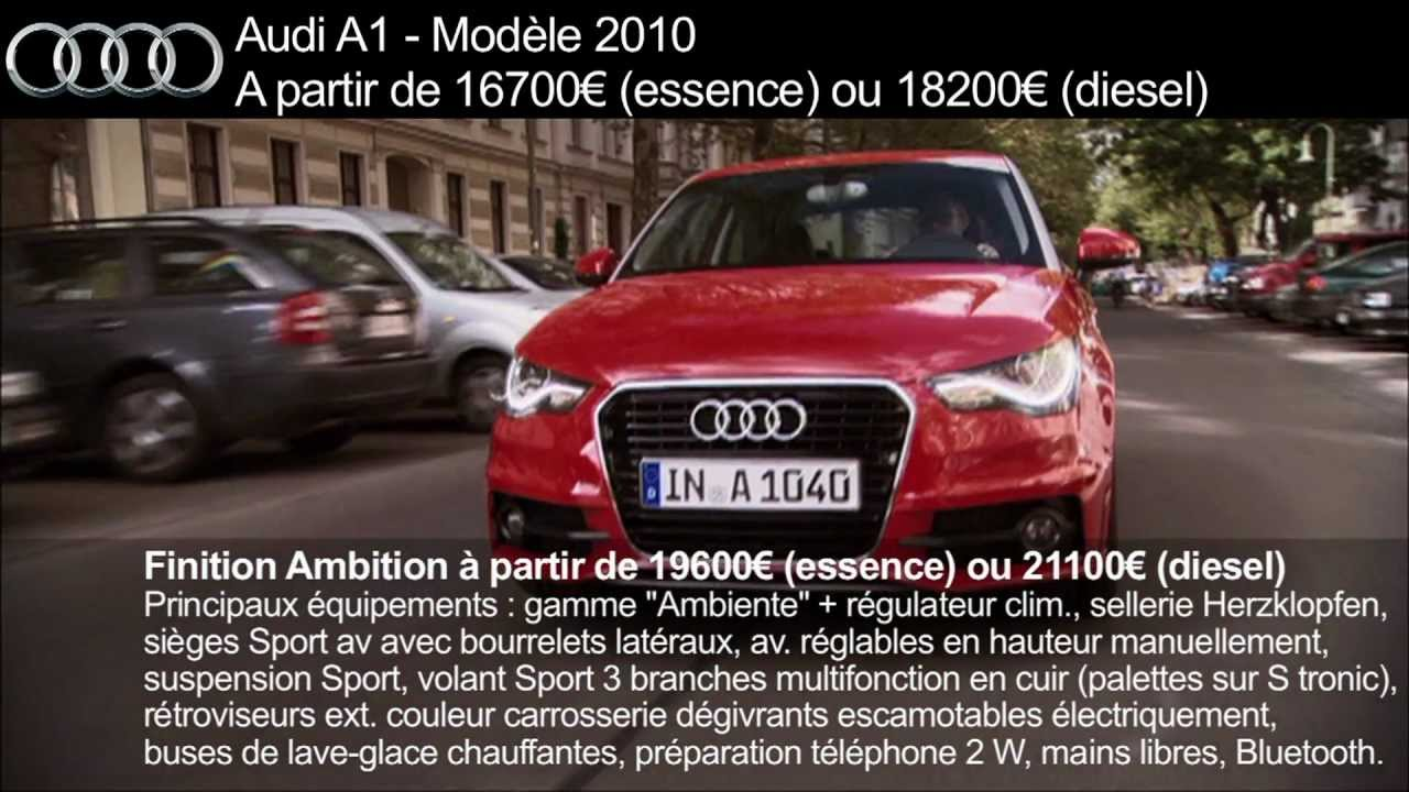 audi a1 fiche prix finitions dimensions motorisations youtube