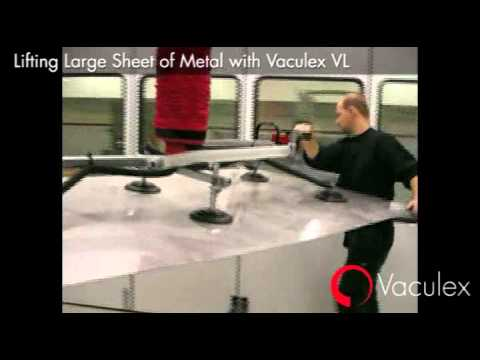 Lifting a Large Sheet of Metal with Vaculex VL