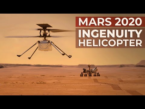 NASA's Mars Helicopter Ingenuity 1st flight of an aircraft on another planet