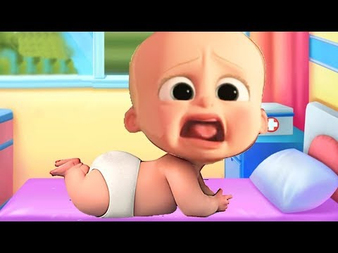 Little Baby Boss Care Doctor, Bath Time, Dress Up Learning Movie Game Cartoon for Kids. Learn Colors