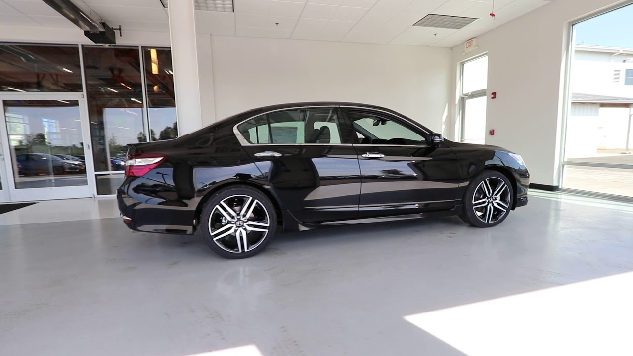 2017 Honda Accord Touring Crystal Black Pearl Ha042300 Seattle Sumner