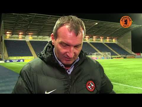 Csaba Làszló Post-match from Falkirk - DUNDEE UNITED FC OFFICIAL YOUTUBE VIDEO