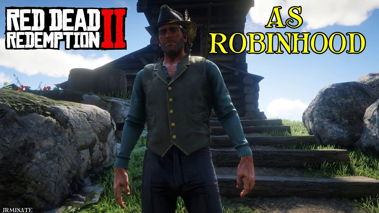 Robin Hood - Red Dead Redemption 2 Playing as Arthur (rdr2 mods pc)