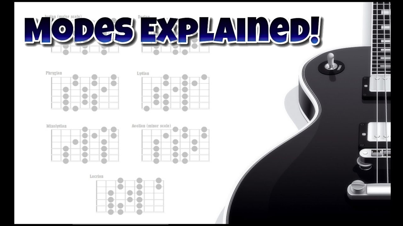 The Modes Explained 1 - What are the modes? - Guitar modes lesson ...