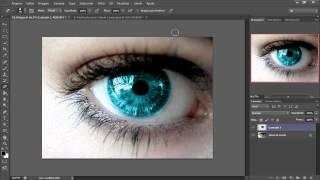 Tutorial Photoshop CS6 - Como mudar a cor dos olhos e do cabelo