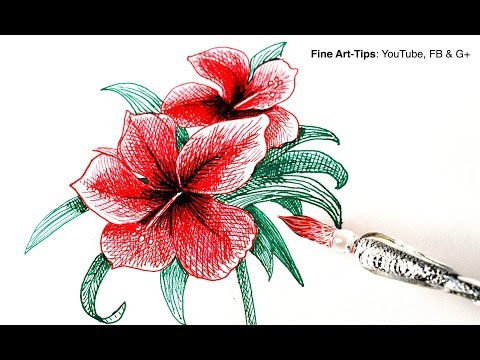 how-to-use-a-glass-dip-pen-&-how-to-draw-a-hibiscus