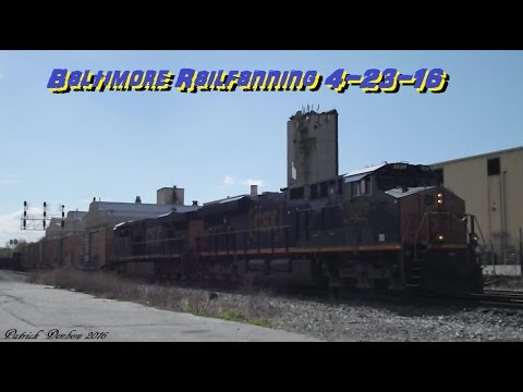Railfanning the Baltimore Terminal/Capitol Subdivison/Old Main Line 4-23-16
