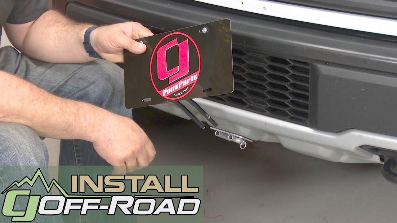 raptor license plate bracket sto  sho   installation youtube